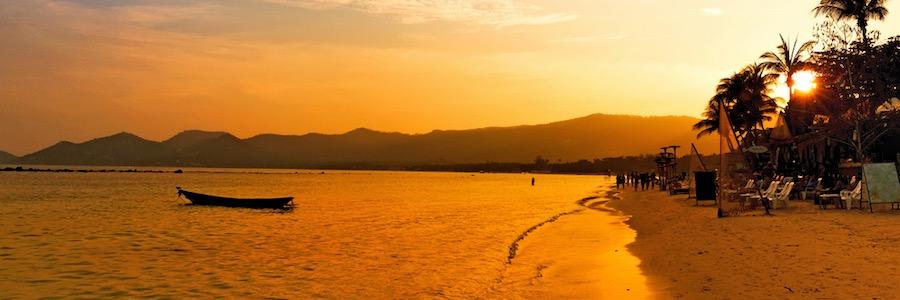 Chaweng Beach Sunset Koh Samui Thailand