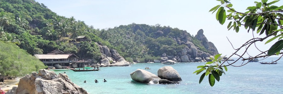 Freedom beach Koh Tao Thailand Felsen