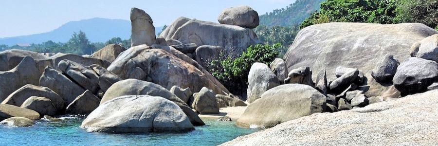 Großmutter und Großvater Felsen Koh Samui Thailand Sehenswürdigkeiten