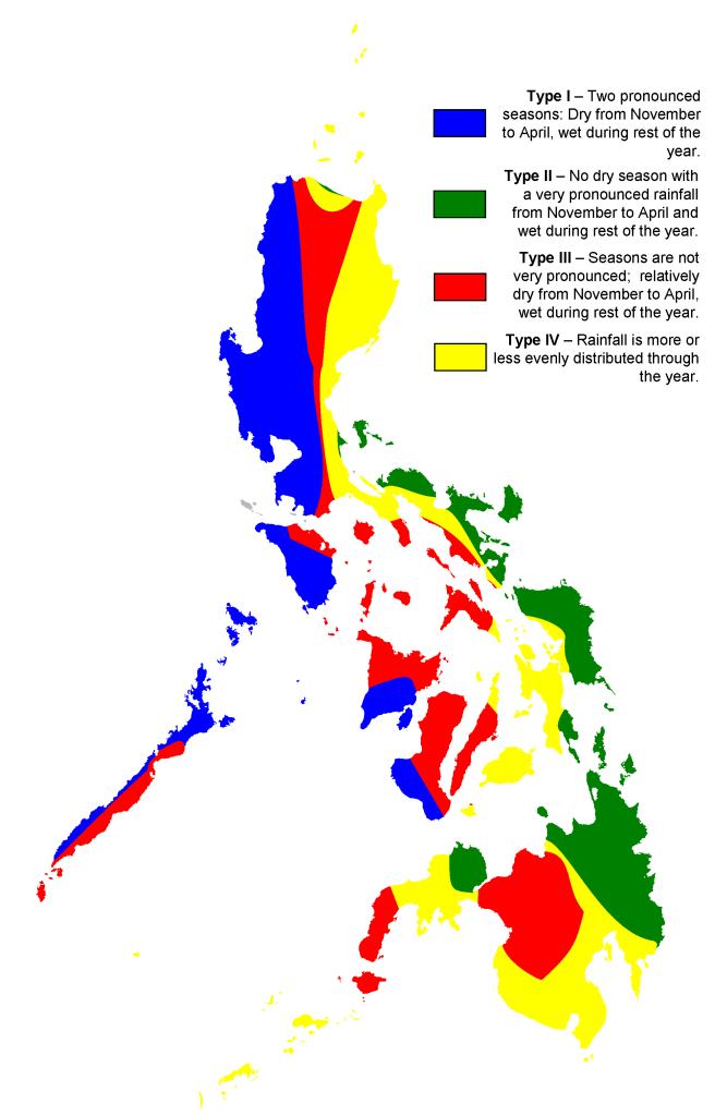 Klimakarte Philippinen - Klimazonen
