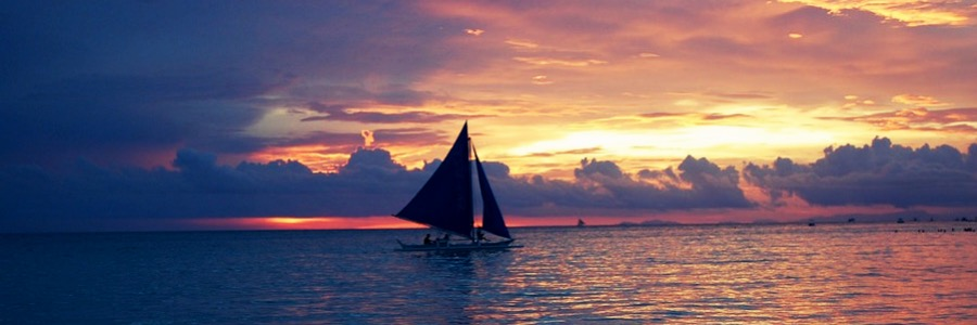 Segeln Philippinen Leyte Davao Klima Sonnenuntergang