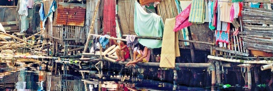 Slums Manila Philippinen Gefährdete Gebiete