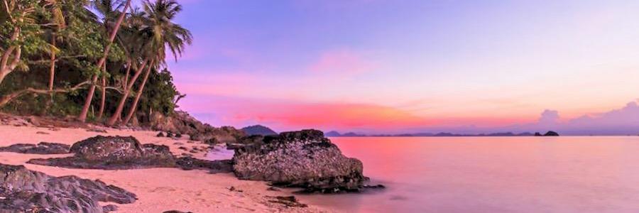 Taling Ngam Beach Koh Samui Thailand Sonnenuntergang