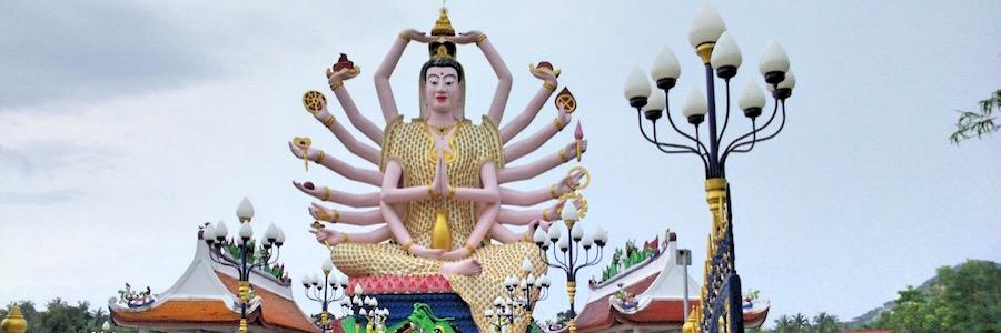 Wat Plai Laem Koh Samui Thailand Sehenswürdigkeiten