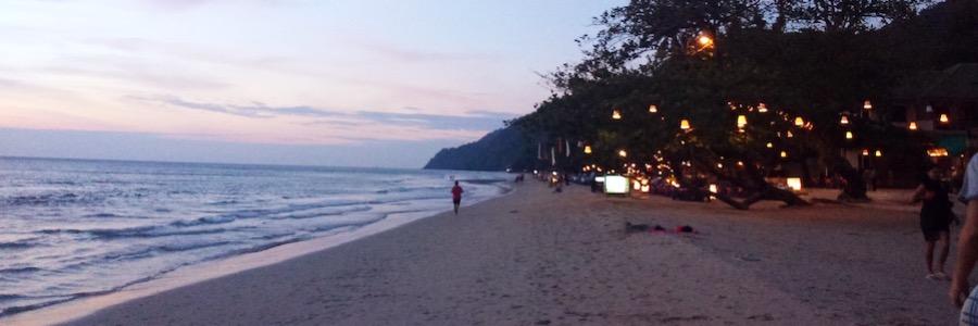 White Sands Beach Koh Chang Abendstimmung