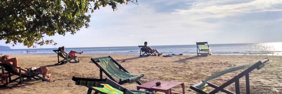 White Sands Beach Koh Chang Bar Sonnenuntergang Beach Bar