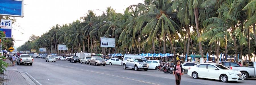 Bang Saen Beach Thailand Beach Road