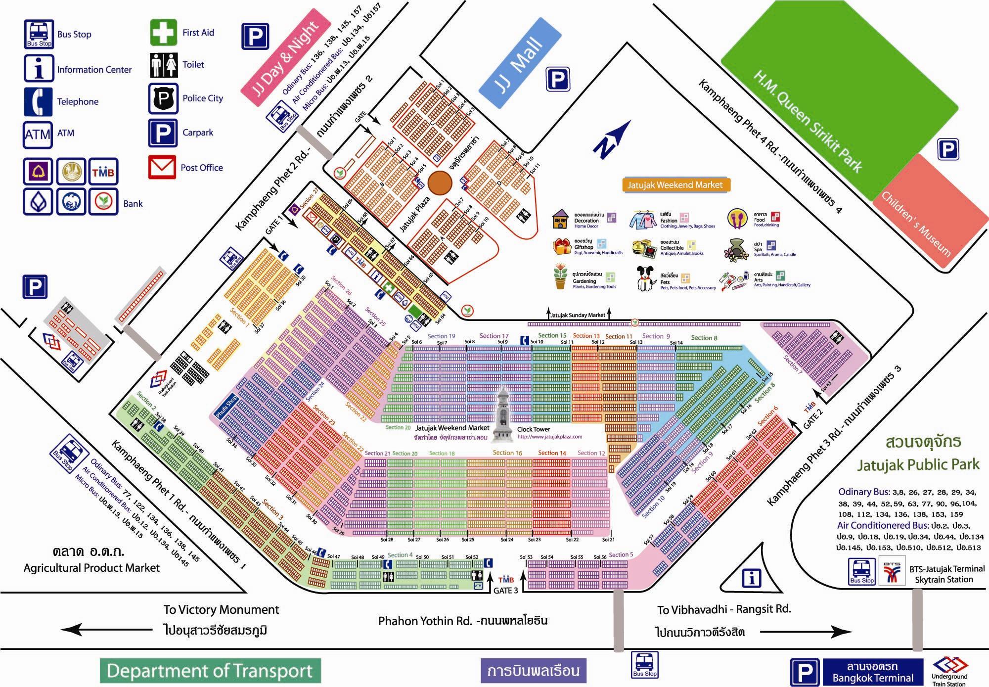 Bangkok Karte.Chatchuchak Weekend Market Bangkok Karte Map Reiseblog