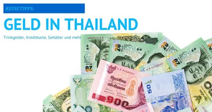 Geld in Thailand Abheben Kreditkarte Trinkgelder