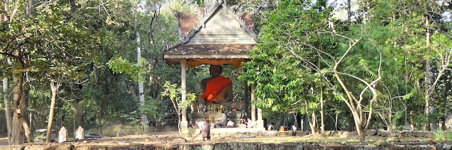 Siem Reap Kambodscha Angkor Wat Buddha Dschungel