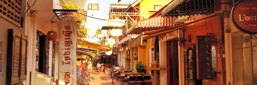 Siem Reap Kambodscha Gassen Altstadt