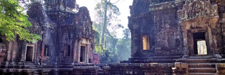Sonnenstrahlen Kambodscha Angkor Wat Tempelanlagen