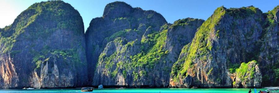 Sonnenuntergang Maya Bay Koh Phi Phi Thailand