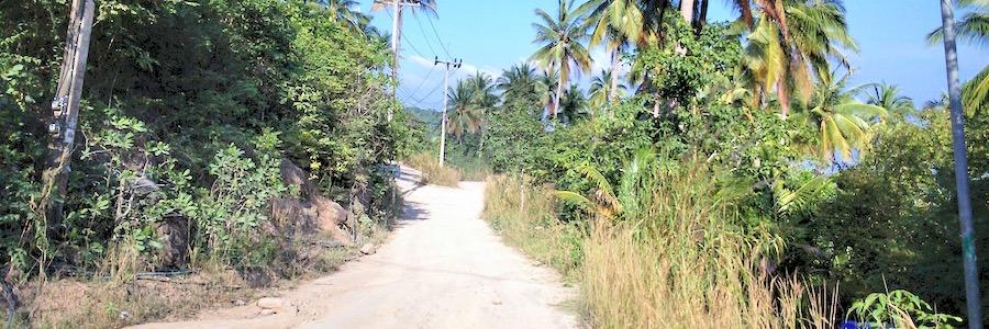 Straßen Wege Koh Tao Thailand
