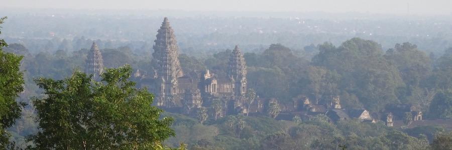 Tempel Kambodscha Sonnenuntergang