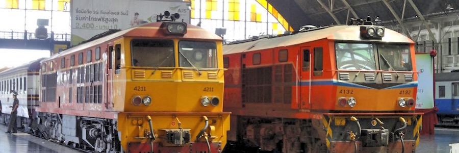 Zug Thailand Bahnhof Bangkok
