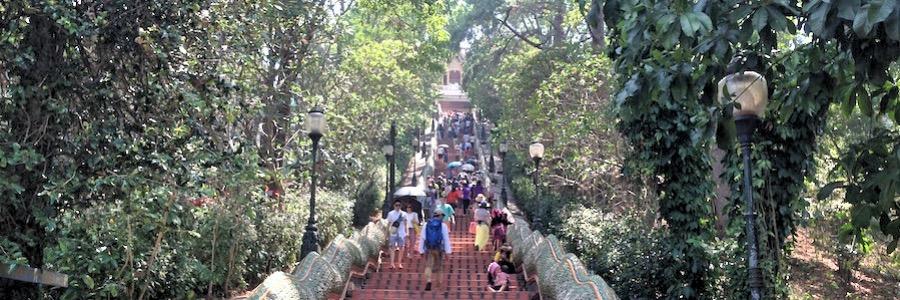 Doi Suthep Aufstieg Chiang Mai