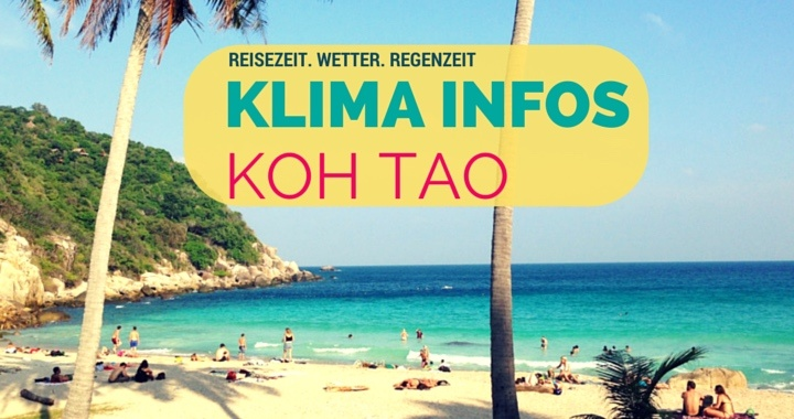 Klima Reisewetter Koh Tao Thailand