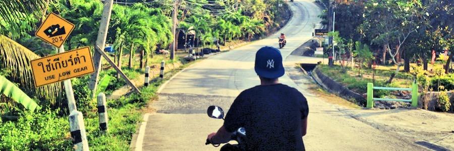 Roller Thailand Traumstraße Koh Phangan
