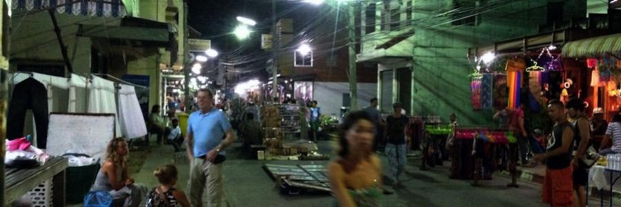 Sunday Night Market Koh Phangan Walking Street Thong Sala