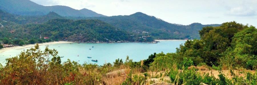Thong Nai Pan Yai Beach Bucht Aussicht Koh Phangan