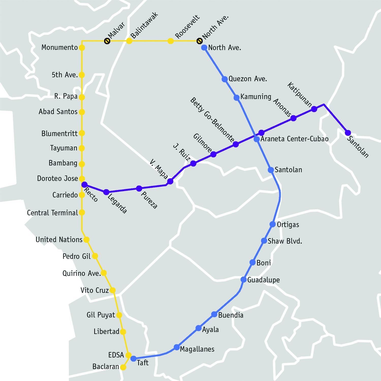 Manila LRT Map