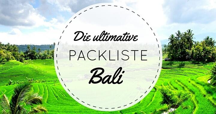 Packliste Bali Indonesien