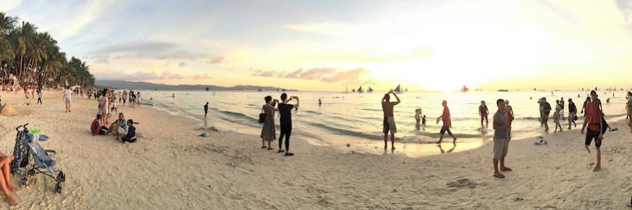 Sunset White Sand Beach