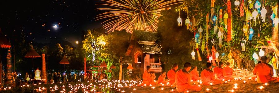 Loi Krathong Chiang Mai Thailand Feste