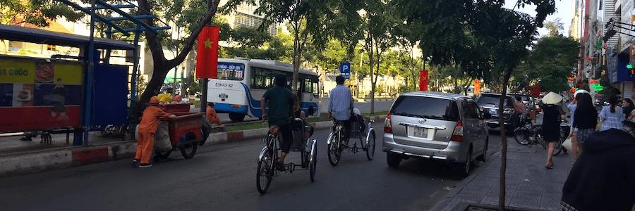 Fahrrad-Rikscha Saigon