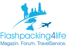 Reiseblog Flashpacking4Life: Thailand, Philippinen u. Südostasien, Vietnam Backpacker Logo