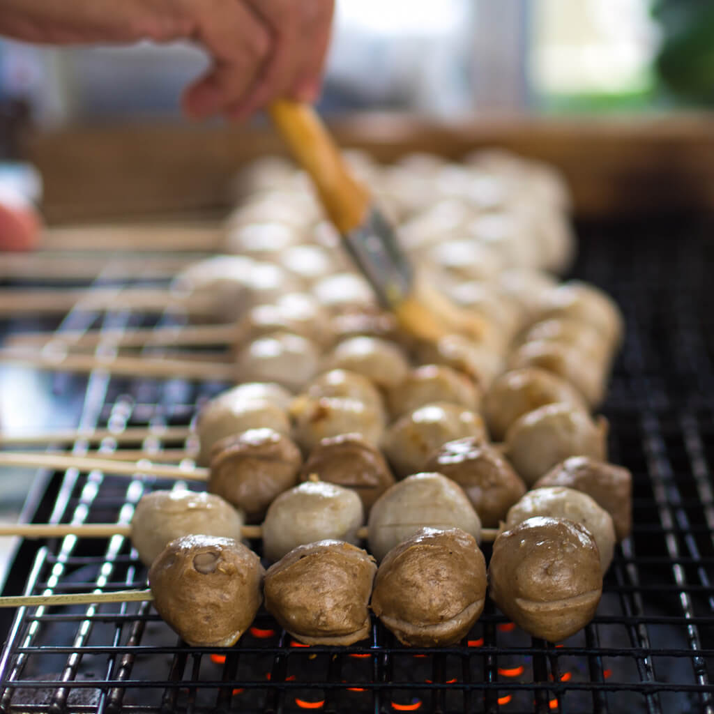 """Grilled pork and beef balls"" by Takeaway - Own work. Licensed under CC BY-SA 3.0 via Wikimedia Commons."
