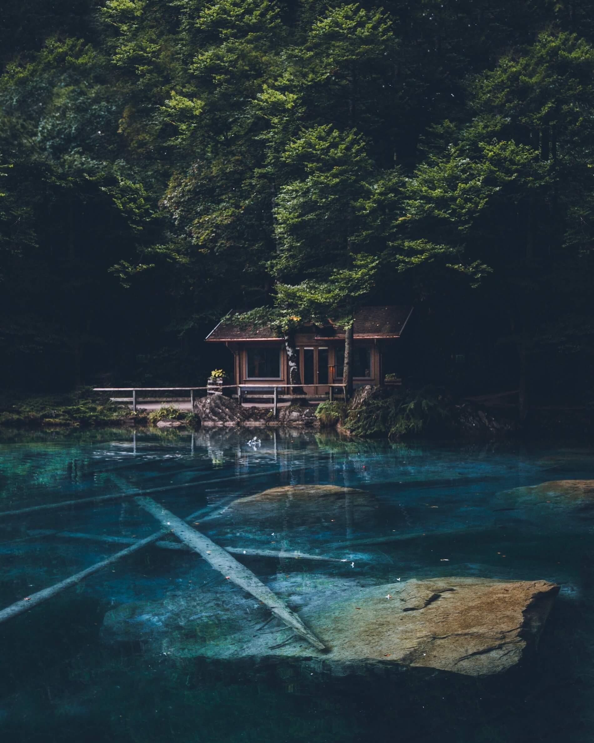 Mystischer See in der Schweiz