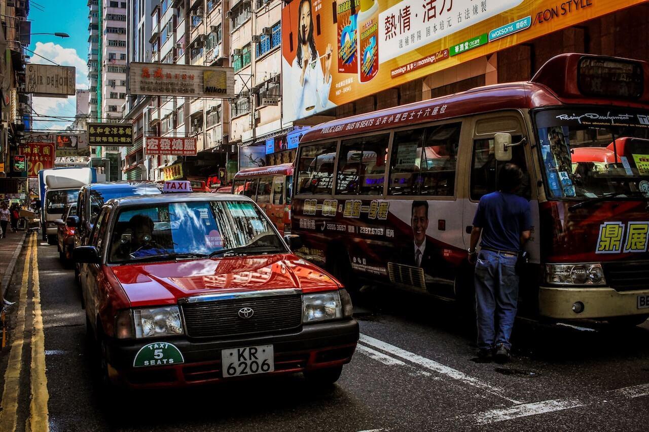 Taxi Fahren in Hong Kong